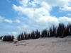 Dunes with cloudy sky