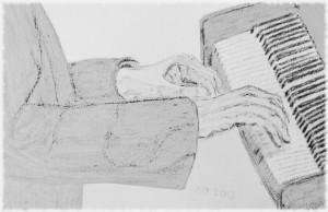 Fingers on the keyboard